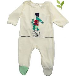 """Pajacyki niemowlęce: Śpioszki """"Krokof"""" w kolorze kremowym"""