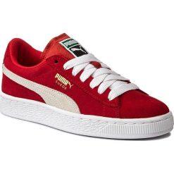 Sneakersy PUMA - Suede Jr 3551100 31 High Risk Red/White. Czerwone trampki chłopięce Puma, z materiału, na sznurówki. Za 269,00 zł.
