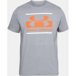 Under Armour Koszulka męska Blocked Sportstyle Logo  szara r. XXL (1305667-513). Szare koszulki sportowe męskie marki Under Armour, l, z dzianiny, z kapturem. Za 95,66 zł.
