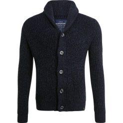 Swetry rozpinane męskie: Superdry JACOB SHAWL Kardigan navy/black twist