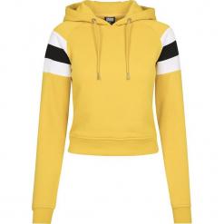 Urban Classics Ladies Sleeve Stripe Hoody Bluza z kapturem damska ochra/biały/czarny. Białe bluzy z kapturem damskie Urban Classics, m, z krótkim rękawem, krótkie. Za 121,90 zł.