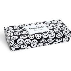 Happy Socks - Skarpetki Black&White Gift Box (4-pak). Białe skarpetki damskie Happy Socks, z bawełny. Za 119,90 zł.