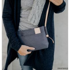 Torebka BAT BLE/GREY. Szare torebki klasyczne damskie Pakamera, z bawełny. Za 190,00 zł.