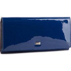 Duży Portfel Damski NOBO - NPUR-LG0030-C013  Granatowy Lakier. Niebieskie portfele damskie marki Nobo, z lakierowanej skóry. W wyprzedaży za 149,00 zł.