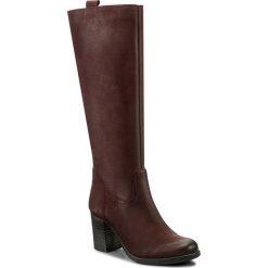 Kozaki EVA MINGE - Novia 2A 17SM1372209EF 434. Czerwone buty zimowe damskie marki Eva Minge, z nubiku, na obcasie. W wyprzedaży za 329,00 zł.