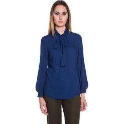 Koszula z szyfonu zapinana na guziki BIALCON. Niebieskie koszule damskie marki BIALCON, z szyfonu, wizytowe. W wyprzedaży za 79,00 zł.