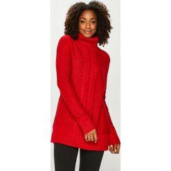 Answear - Sweter. Czerwone golfy damskie ANSWEAR, l, z dzianiny, z krótkim rękawem. Za 219,90 zł.