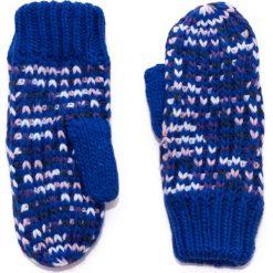 Rękawiczki damskie: Art of Polo Rękawiczki damskie jednopalczaste w melanżach niebieskie (rk14166)
