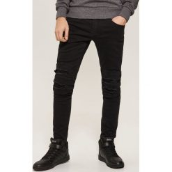 Jeansy skinny - Czarny. Czarne jeansy męskie skinny House, z jeansu. Za 129,99 zł.