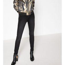 Dżinsy skinny. Szare jeansy damskie marki La Redoute Collections, m, z bawełny, z kapturem. Za 102,86 zł.