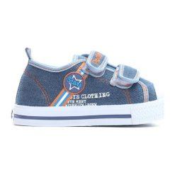 Niebieskie Trampki Loving Stars. Niebieskie buty sportowe chłopięce Born2be, z materiału, z okrągłym noskiem. Za 49,99 zł.