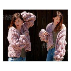 Cardigan damski, sweter wełniany na drutach. Brązowe kardigany damskie Pakamera, z materiału. Za 639,00 zł.