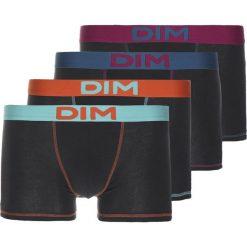 Bokserki męskie: DIM MIX & COLORS 4 PACK Panty noir/bleu lagune/orange feu/bleu pétrole/lie de vin
