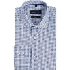 Koszula SIMONE KDNR000235. Niebieskie koszule męskie na spinki marki bonprix, m, z nadrukiem, z klasycznym kołnierzykiem, z długim rękawem. Za 229,00 zł.