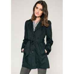 Vero Moda - Płaszcz. Niebieskie płaszcze damskie marki Vero Moda, z bawełny. W wyprzedaży za 99,90 zł.