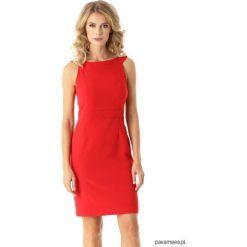 Dopasowana sukienka odcięta w pasie czerwona. Czerwone sukienki balowe Pakamera, mini, dopasowane. Za 179,00 zł.