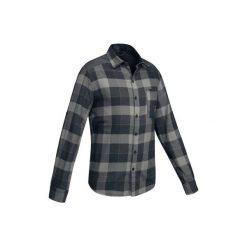 Koszula trekkingowa TRAVEL 100 męska. Szare koszule męskie marki FORCLAZ, m, z bawełny. Za 79,99 zł.