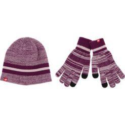 Zestaw Czapka i Rękawiczki NEW BALANCE - 500342 532. Fioletowe czapki zimowe damskie New Balance, z materiału. Za 129,99 zł.
