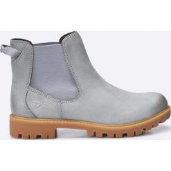 Tamaris - Botki. Szare buty zimowe damskie marki Tamaris, z materiału, na sznurówki. W wyprzedaży za 179,90 zł.