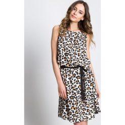 Odzież damska: Sukienka z motywem zwierzęcym bez rękawów BIALCON