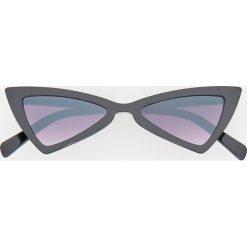 Okulary przeciwsłoneczne - Czarny. Czarne okulary przeciwsłoneczne damskie Reserved. Za 49,99 zł.