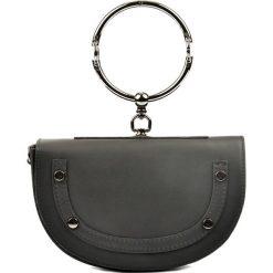 Puzderka: Skórzana kopertówka w kolorze czarnym – 23 x 15 x 5 cm