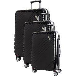 Zestaw walizek w kolorze czarnym - 3 szt. Czarne walizki marki Travel One, z materiału. W wyprzedaży za 619,95 zł.