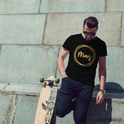Koszulki polo: Mąż koszulka męska czarna tshirt męski czarny