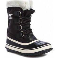 Śniegowce SOREL - Winter Carnival NL1495 Black Stone 011. Czarne buty zimowe damskie Sorel, z gumy. Za 499,99 zł.