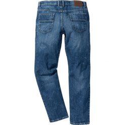 Dżinsy z wzmocnionym krokiem STRAIGHT bonprix niebieski. Niebieskie jeansy męskie regular bonprix. Za 109,99 zł.