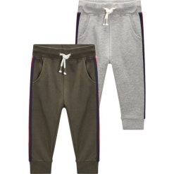 Next 2 PACK JOGGERS Spodnie treningowe grey/khaki. Szare spodnie dresowe dziewczęce Next, z bawełny. Za 139,00 zł.
