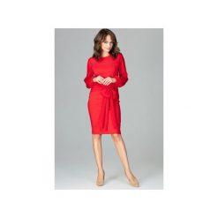 Sukienka K494 Czerwony. Szare sukienki balowe marki Lenitif, l. Za 179,00 zł.