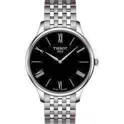 PROMOCJA ZEGAREK TISSOT T-Classic T063.409.11.058.00. Czarne zegarki męskie TISSOT, ze stali. W wyprzedaży za 1346,40 zł.