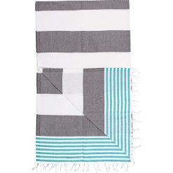 Chusta hammam w kolorze czarno-niebieskim - 180 x 100 cm. Czarne chusty damskie marki Hamamtowels, z bawełny. W wyprzedaży za 43,95 zł.