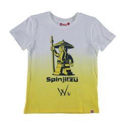 """T-shirty chłopięce z nadrukiem: Koszulka """"Thomas"""" w kolorze biało-żółtym"""