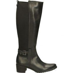 Kozaki - EQ2223 V-E NE. Czarne buty zimowe damskie marki Venezia, z materiału, na obcasie. Za 299,00 zł.