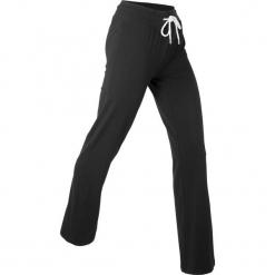 Spodnie shirtowe palazzo, długie, Level 1 bonprix czarny. Czarne bryczesy damskie bonprix, na fitness i siłownię. Za 74,99 zł.