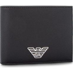 Duży Portfel Męski EMPORIO ARMANI - Y4R165 YLA0E 81072 Black. Czarne portfele męskie Emporio Armani, ze skóry ekologicznej. Za 389,00 zł.