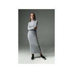 SUKIENKA WILLOW - SZARA. Szare sukienki balowe marki Madnezz, m, z aplikacjami, z bawełny, z golfem, dopasowane. Za 239,00 zł.