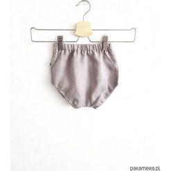 Spodnie niemowlęce: LEN bloomersy szare