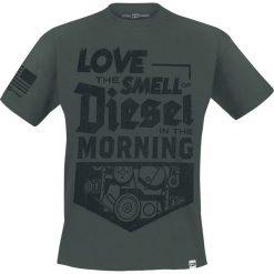 T-shirty męskie: Diesel Power Gear Smell of Diesel T-Shirt ciemnozielony