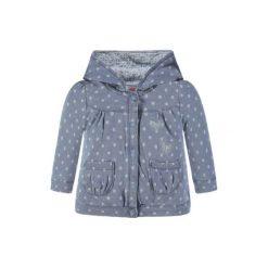 Kanz  Girls Bluza z kapturem, niebieski - Gr.Niemowlę (0 - 6 miesięcy). Niebieskie bluzy niemowlęce marki Kanz, w kropki, z bawełny, z kapturem. Za 89,00 zł.