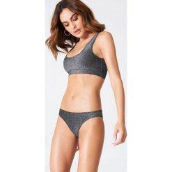 Bikini: Hannalicious x NA-KD Brokatowy dół od bikini – Grey