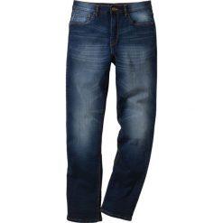 Dżinsy ze stretchem Classic Fit Straight bonprix ciemnoniebieski. Niebieskie jeansy męskie regular bonprix. Za 109,99 zł.