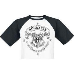 T-shirty męskie z nadrukiem: Harry Potter Hogwarts T-Shirt biały/czarny