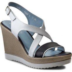 Rzymianki damskie: Sandały ANN MEX – 7491 00SB+05SB Biały