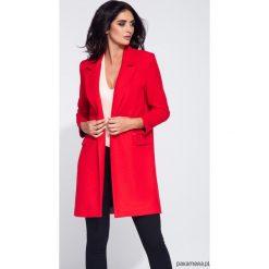 Przejściowy czerwony płaszcz damski. Czerwone płaszcze damskie Pakamera, klasyczne. Za 199,00 zł.