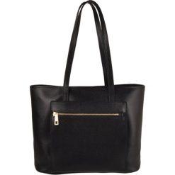 Torebki klasyczne damskie: Skórzana torebka w kolorze czarnym – 36 x 29 x 15 cm