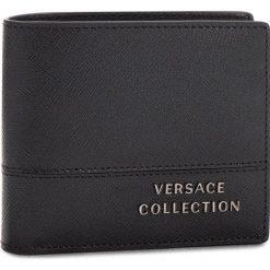 Duży Portfel Męski VERSACE COLLECTION - V930121 VM00043 V000C Nero. Czarne portfele męskie marki Versace Collection, ze skóry. Za 599,00 zł.