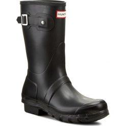 Kalosze HUNTER - Original Short WFS1000RMA Black W23758. Czarne buty zimowe damskie Hunter, z kauczuku. Za 489,00 zł.
